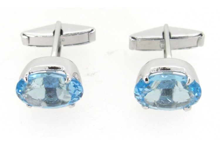 Blue Topaz Cufflinks